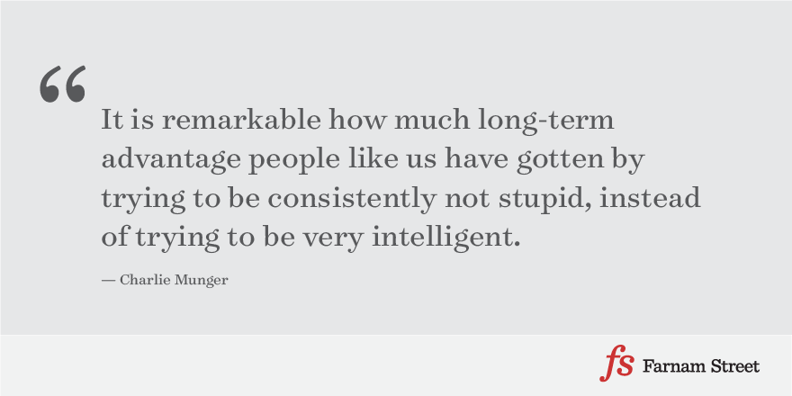 Munger not stupid