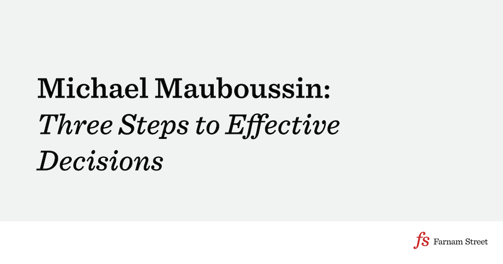 Michael Mauboussin: Three Steps to Effective Decisions