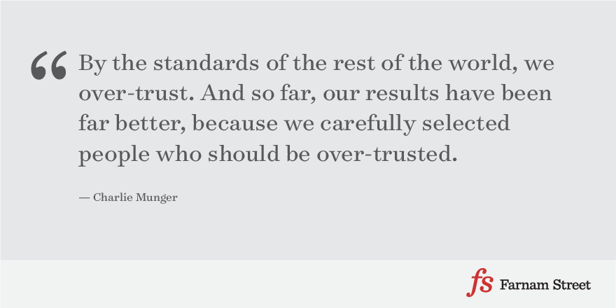 Charlie Munger on Trust