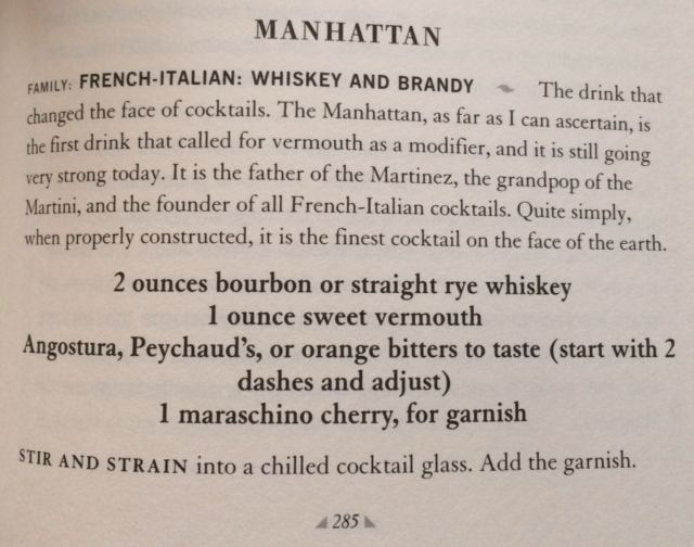 How to properly make a Manhattan.