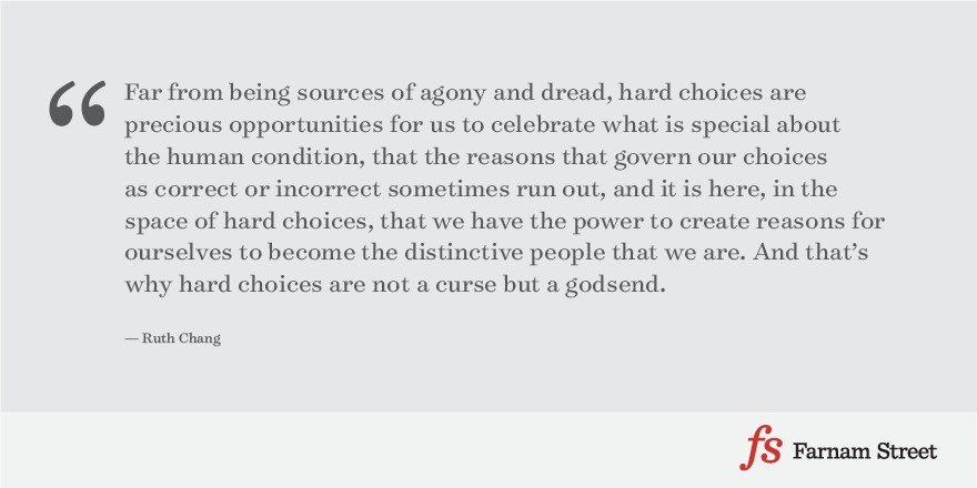 Ruth Chang: How to Make Hard Choices