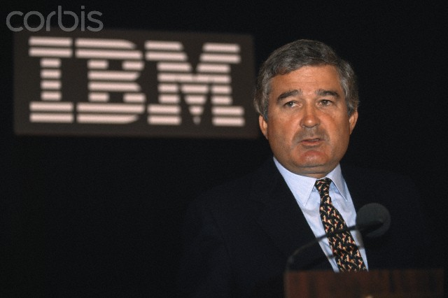 IBM CEO Louis Gerstner