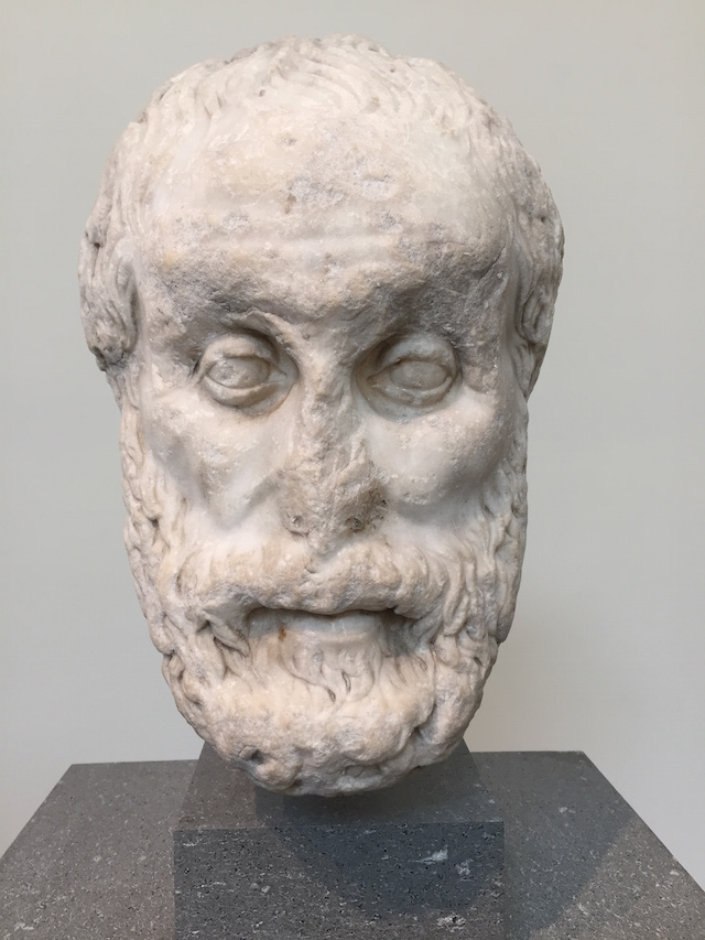Marble Head of a Philosopher