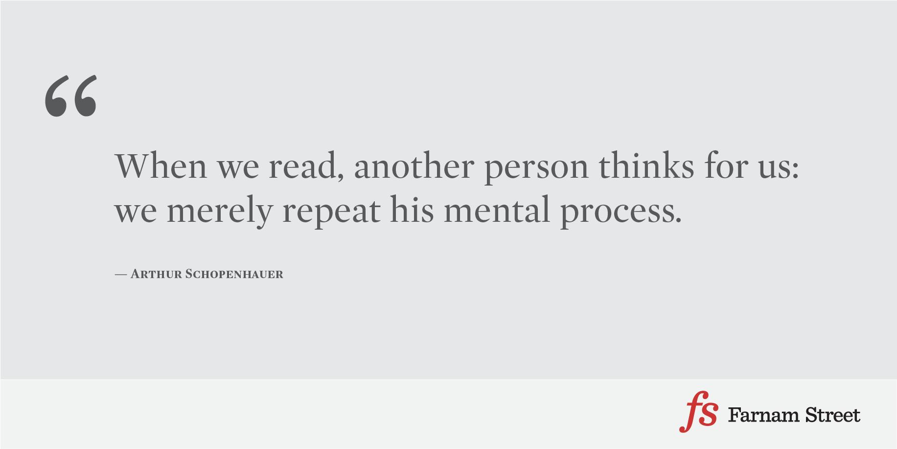 Arthur Schopenhauer Reading