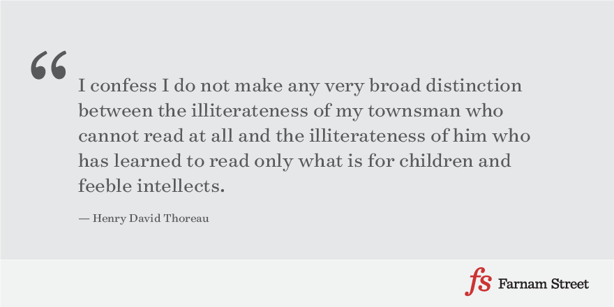 Henry David Thoreau On Reading