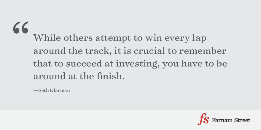 While others attempt to win every lap around the track, it is crucial to remember that to succeed at investing, you have to be around at the finish.