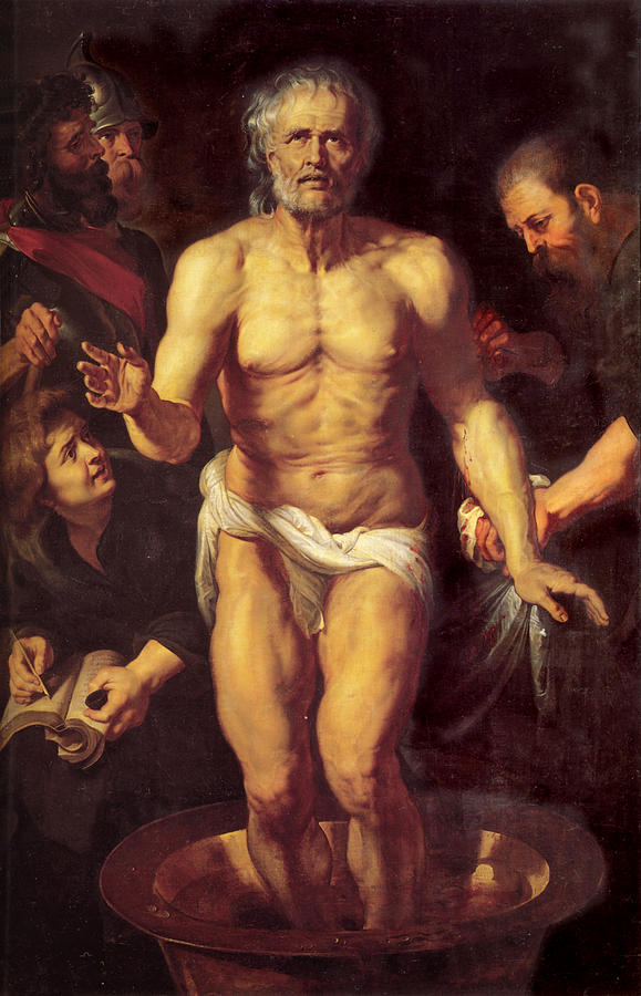 The death of Seneca, as depicted by Rubens in the early seventeenth century.