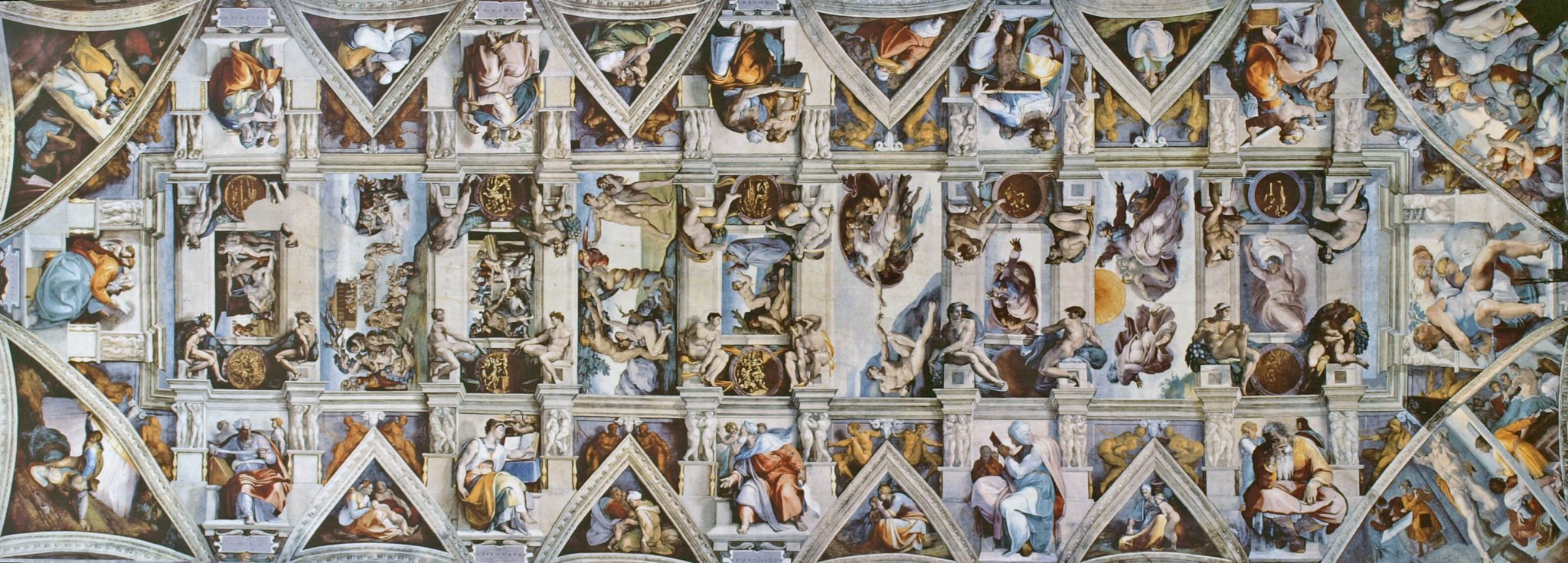 The ceiling of the Sistine Chapel (Via wikipedia)