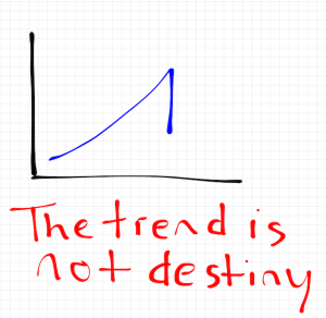 The trend is not destiny