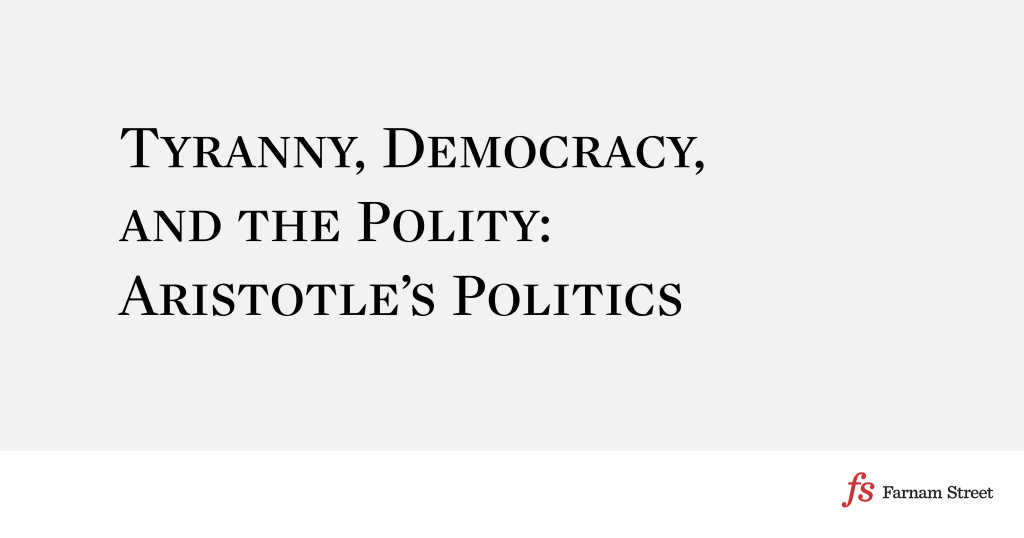 Tyranny Democracy And The Polity Aristotles Politics